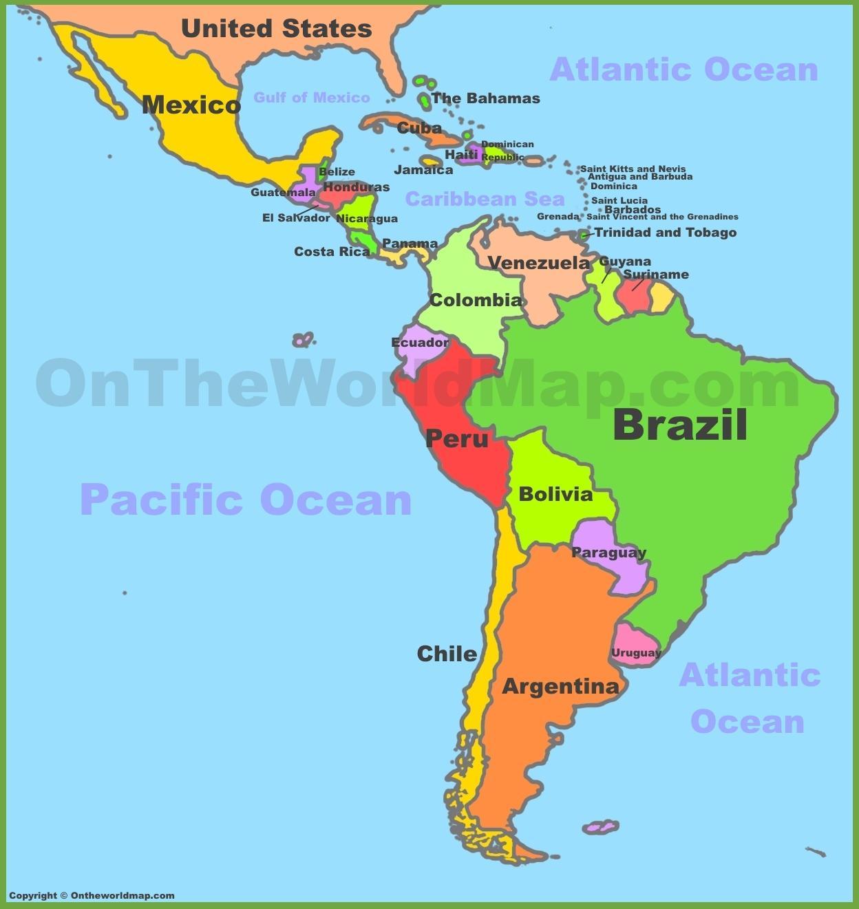 karta mexico Karta över Mexiko och sydamerika   Karta över Mexiko sydamerika  karta mexico