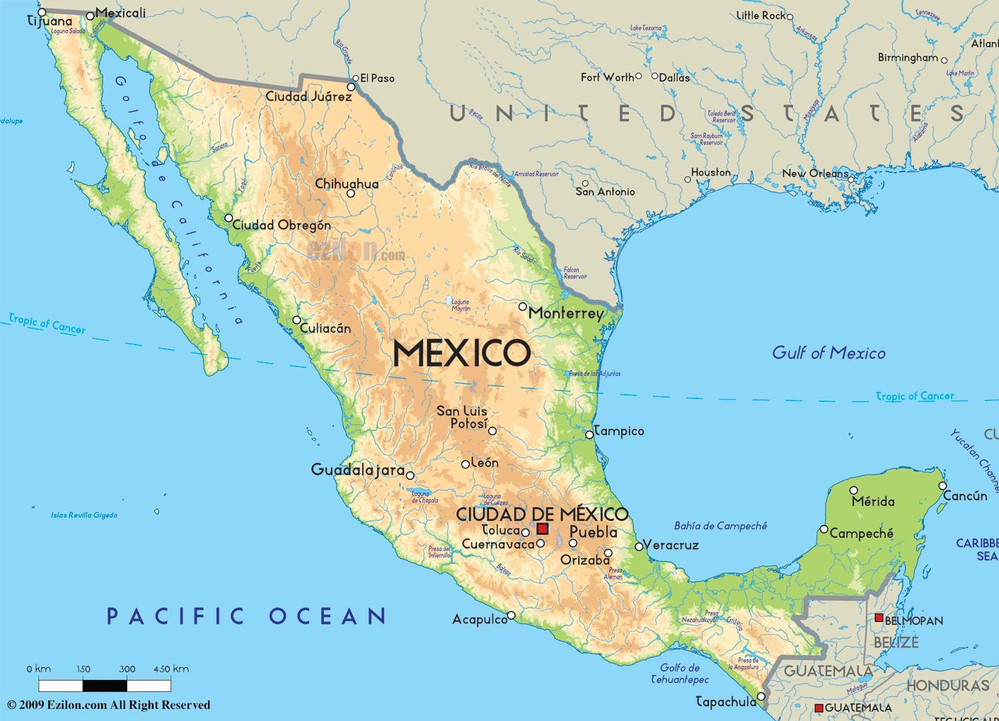 karta mexico Mexiko karta   Karta Mexiko (Central Amerika   nord och sydamerika) karta mexico