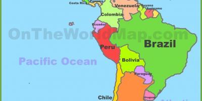 syd amerika kart Mexiko karta   Karta Mexiko (Central Amerika   nord och sydamerika) syd amerika kart