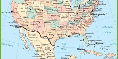 Karta Usa Tidszoner.Mexiko Tidszon Karta Tidszon Karta Mexiko Central Amerika Nord